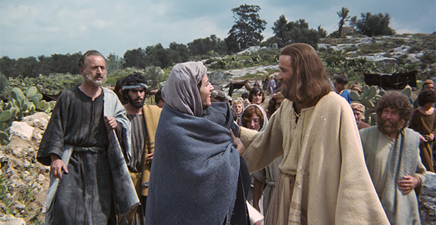 Brian Deacon plays Jesus, in The Jesus Film of 1979