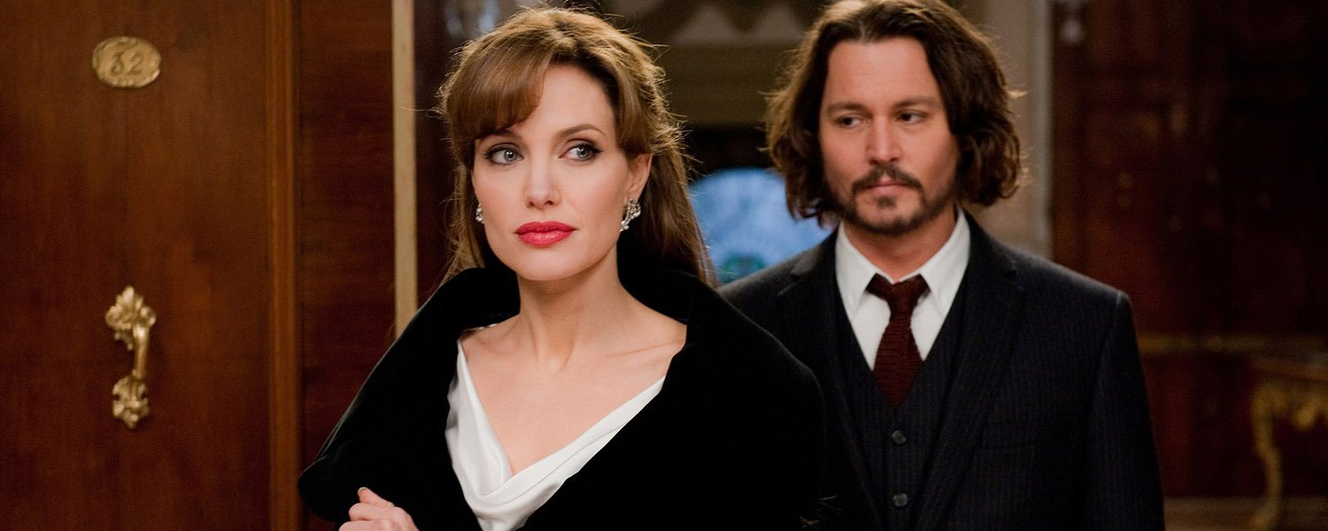 Johnny Depp and Angelina Jolie in The Tourist