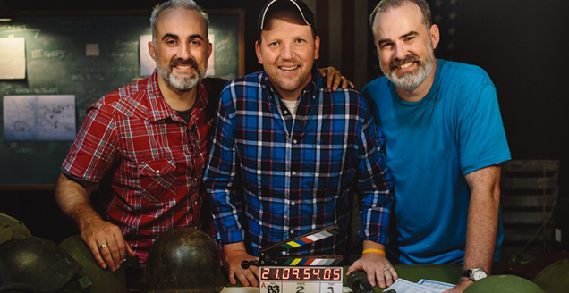 War Room producers Stephen Kendrick and Gary Wheeler with director Alex Kendrick