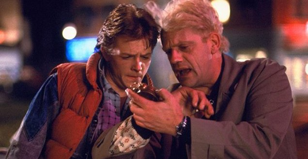 Marty McFly and Doc in Back To The Future