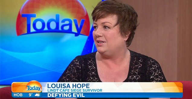 Louisa Hope interviewed by Lisa Wilkinson on the Today Show