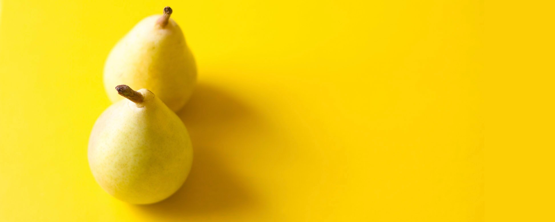 Pears on Yellow Background