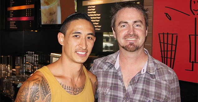 Anthony Fong and Destiny Rescue founder Tony Kirwin