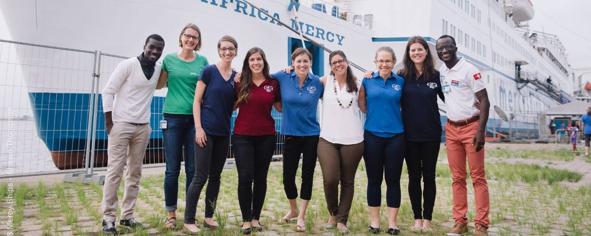 Crew and staff of Mercy Ships