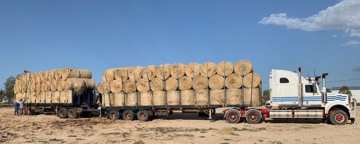 Buy a Bale Hay truck