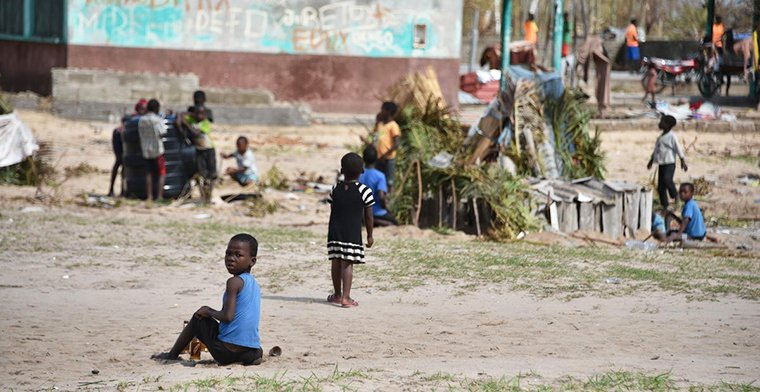 Children in Beira at risk