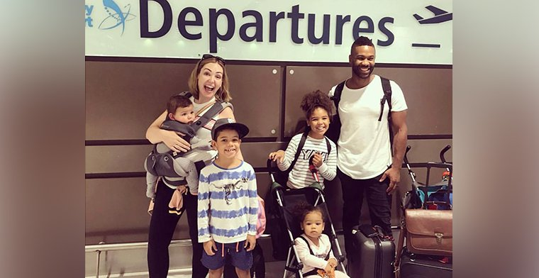 Mullings Family at the Airport