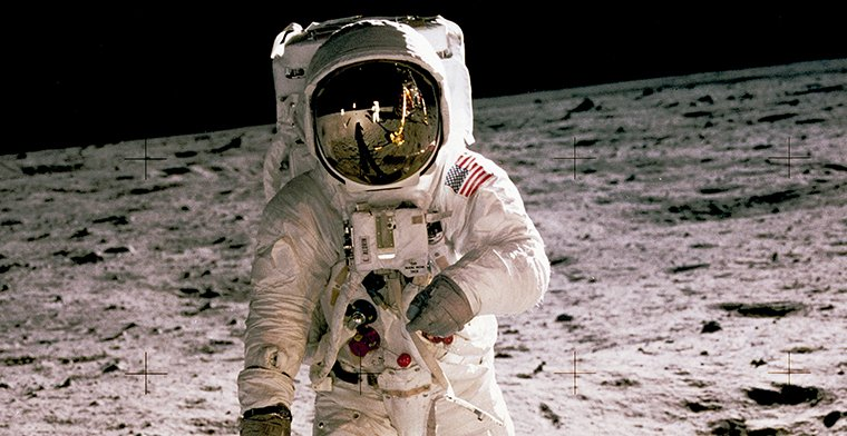 Buzz Aldrin on the Moon -