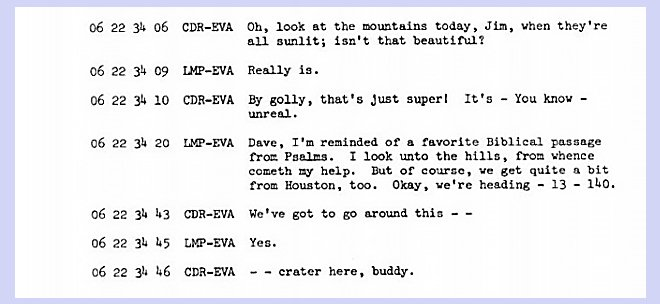 Apollo 15 transcript Jim Irwin and Dave Scott -