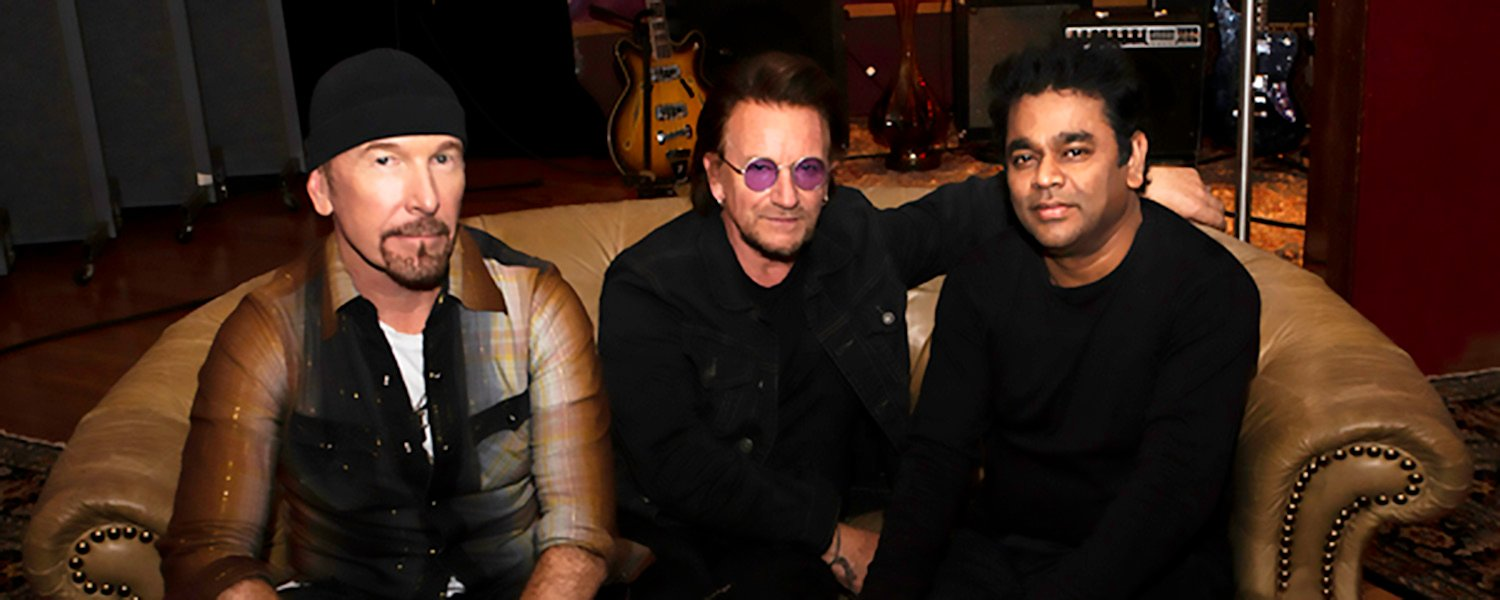 u2 Bono and the Edge with A.R. Rahman