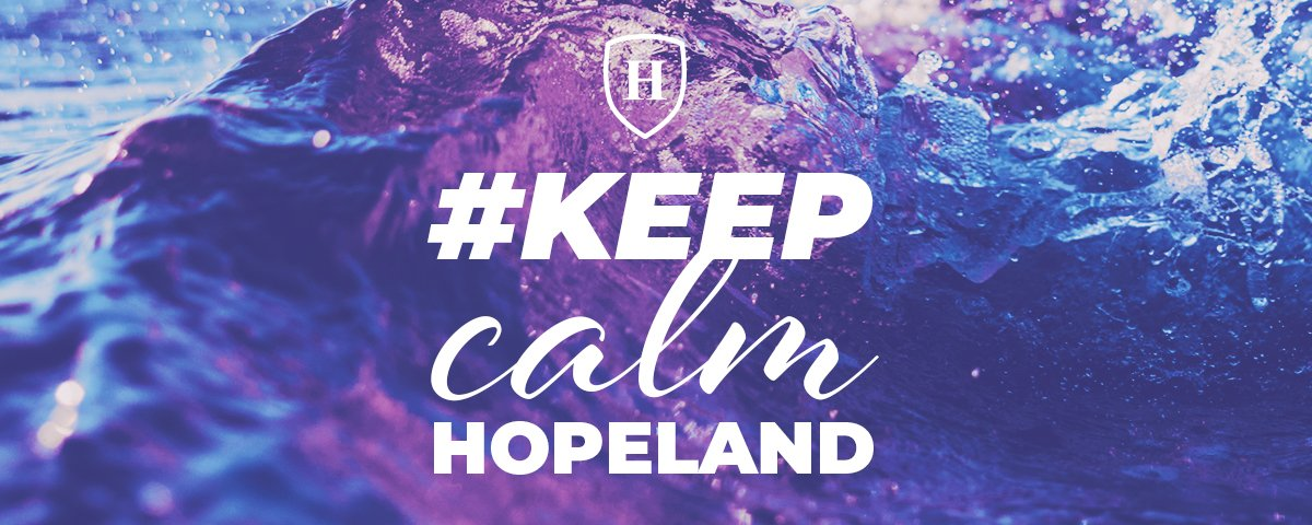 Keep Calm Hopeland and Carry On, with Love from Hope 103.2
