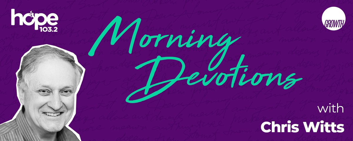 Morning Devotions with Chris Witts podcast hero banner