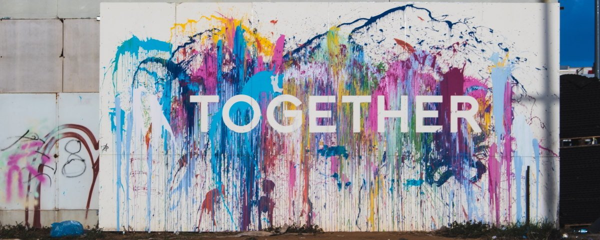 Together Art Sign by nicole-baster-