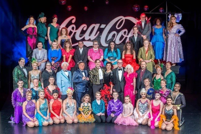 Volunteer Ngaire in Strictly Ballroom community threatre