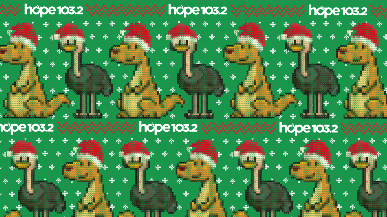 Christmas in July Zoom background 2