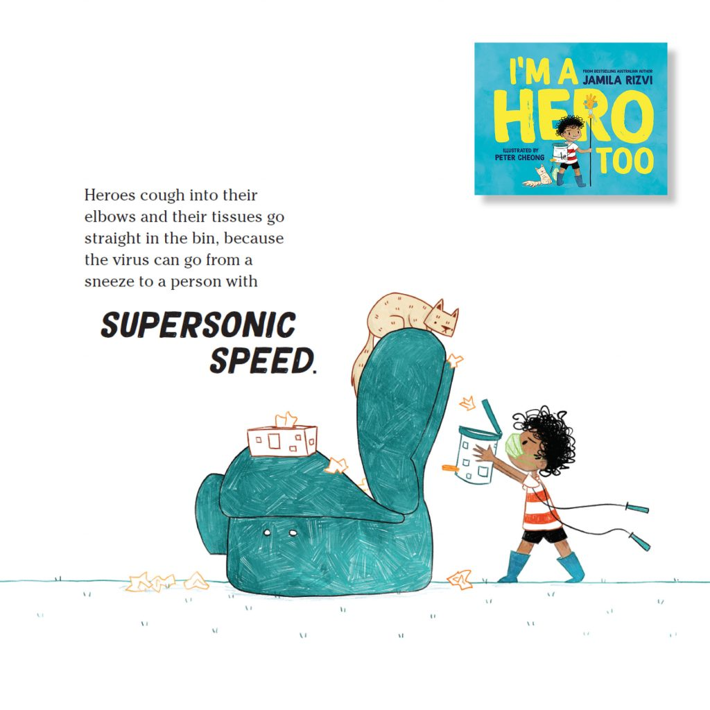 Page from I'm a Hero Too book by Jamila Rizvi