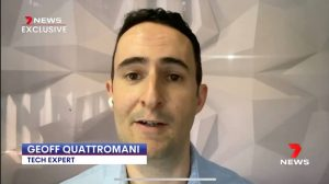 Tech expert Geoff Quattromani of 'Technology Uncorked' podcast appearing on Channel 7