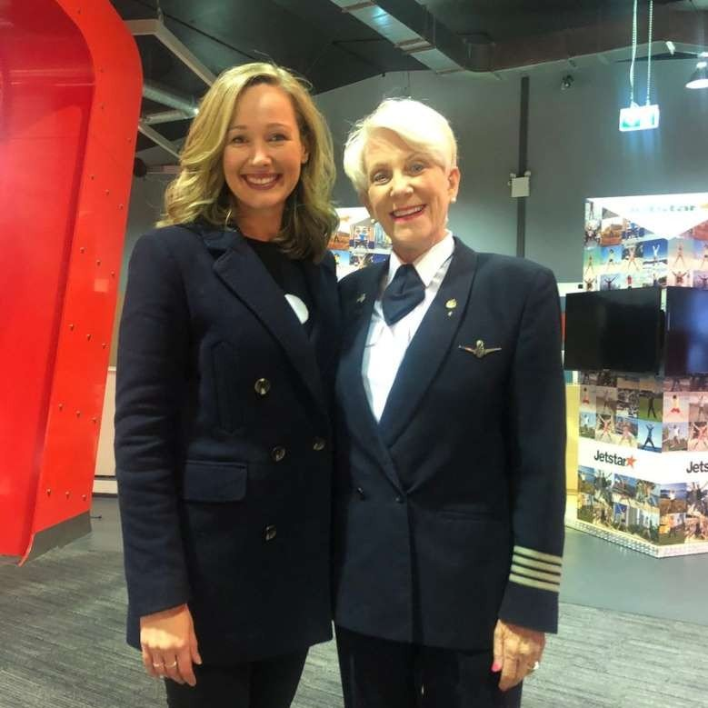 The real Beverley Bass, the first female American Airlines captain, whose story became the musical hit 'Come From Away'