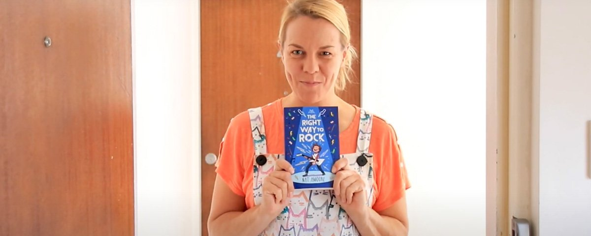 Children's author Nat Amoore with new book The Right Way to Rock