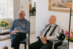 Australia's oldest man Frank Mawer at his 109th birthday party on Zoom