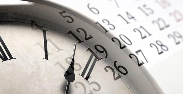 Passing Time Clock Calendar